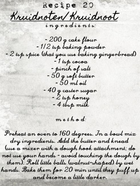 Kruidnoten (Kruidnoot)+recipe