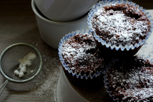 pear and chocolate cupcakes
